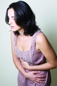 Woman suffering from Candida symptoms