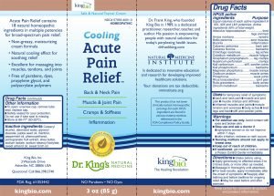 label-for-acute-pain-relief-topical
