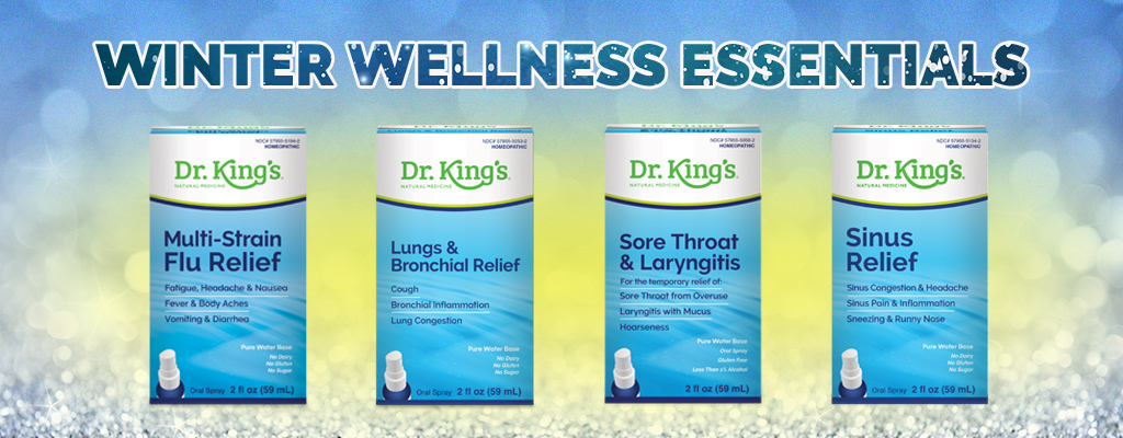 Winter Wellness image containing a promotion for Multi-Strain Flu Relief, Lungs & Bronchial Relief, Sore THroat & Laryngitis, and Sinus Relief
