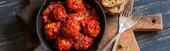 Rustic Italian Bison Meatballs